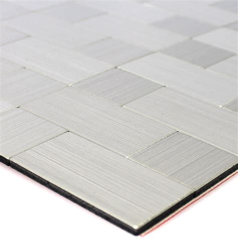 self adhesive metal mosaic tiles silver mix ebay