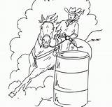 Coloring Barrel Racing Printable Template Popular Coloringhome Related sketch template