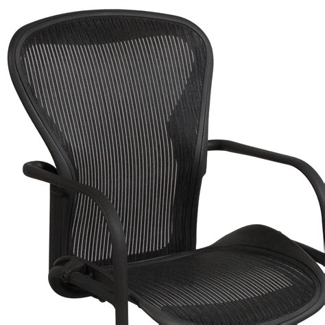 herman miller aeron used side chair carbon classic