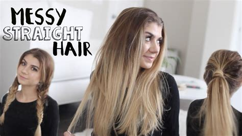 3 Quick Hairstyles + Messy Straight Hair