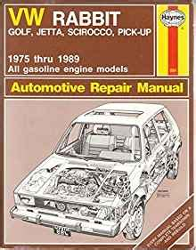 vehicle repair manual 1984 volkswagen scirocco on board diagnostic system vw rabbit golf jetta scirocco pick up 1975 thru 1989 automotive repair manual haynes