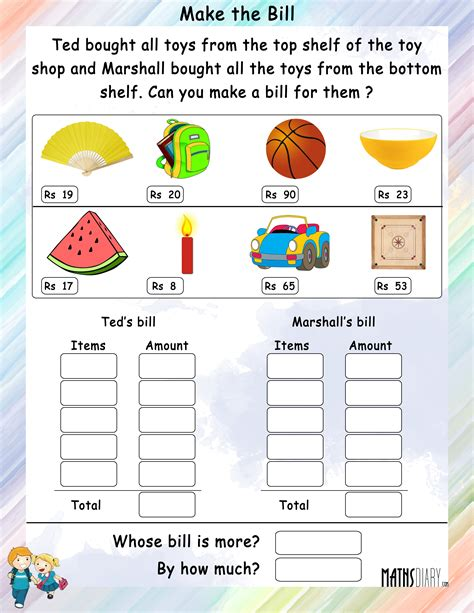 big bill math worksheet big best free printable worksheets