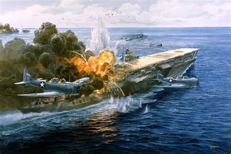 Battle of Midway Aircraft Carriers Art