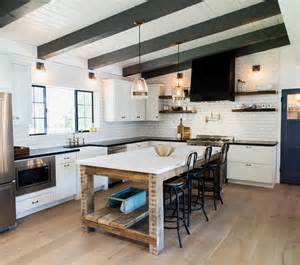 Forum Cuisine Barbry by Reclaimed Wood Kitchen Island With Shelf And Marble