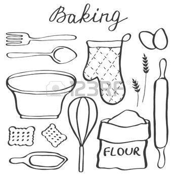 dessin ustensile de cuisine dessin ustensiles de cuisine ensemble de cuisson