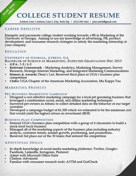 college resume sample task list templates