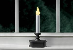 Wireless Sensor Led Window Candles  Set Of 6    Sharper Image