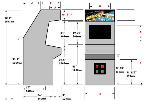 Galaga Arcade Cabinet Dimensions by Arcade Cabinet Plans Woodworking Projects Plans