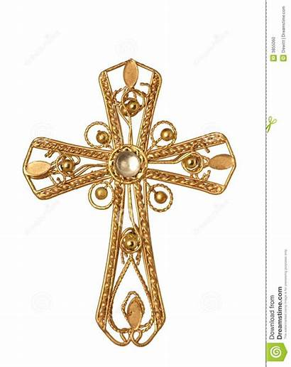Cross Gold Clipart Jeweled Golden Graphic Christian