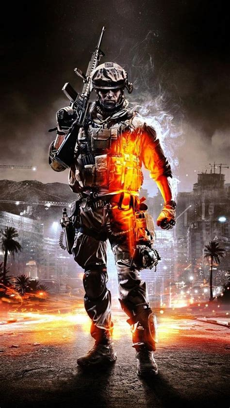 call  duty ghosts orange soldier android wallpaper