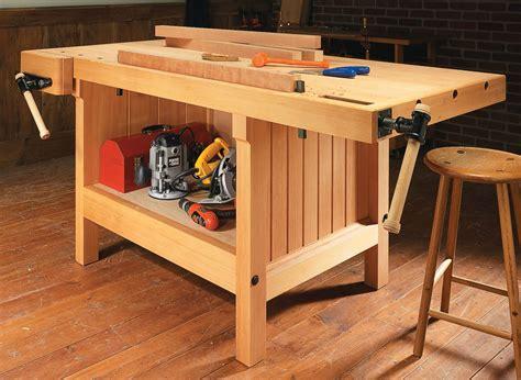cabinetmakers workbench woodworking project woodsmith