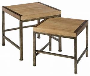 metal and wood table stand set of 2 transitional With wood and metal coffee table sets