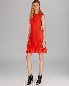 Miller Dress Size Chart Lyst Millen Dress Pintuck Collection In Orange