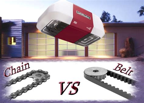chain drive vs belt drive garage door opener garage door openers liftmaster belt vs chain garage door