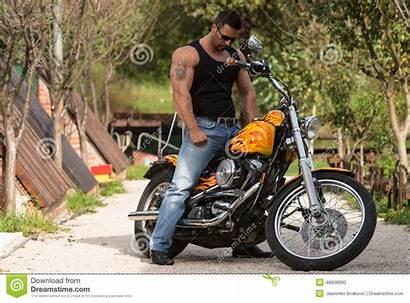 Bodybuilder Biker Motorcycle Bike Motorfiets
