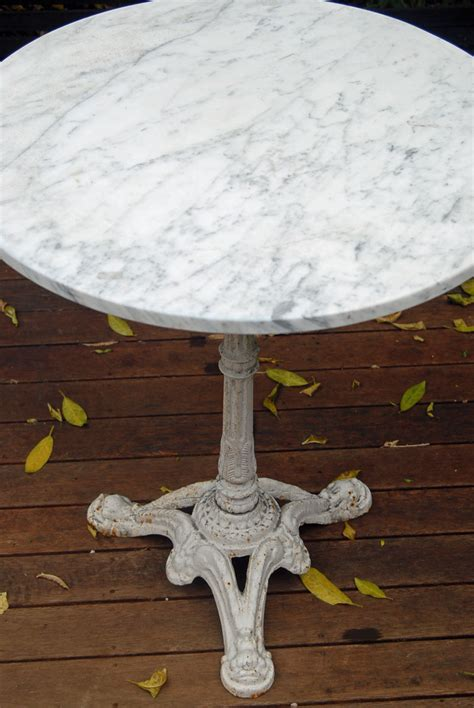marble top bistro table  home  cafe homesfeed