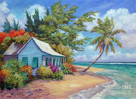 The Cottage Painting by Cottage At The Water S Edge Painting By Clark