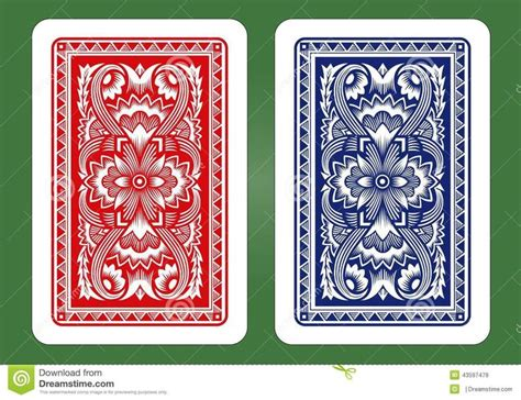 playing card designs stock vector playing card