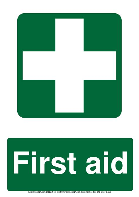 aid signs poster template