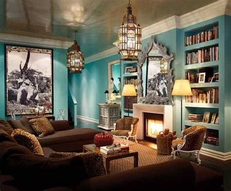 Brown And Turquoise Living Room  Amável Events Pinterest