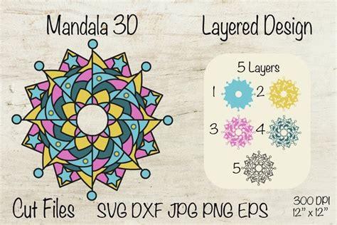 Free layered mandala alphabet svg cut files for cricut and silhouette. 3D Mandala Alphabet Svg Free - Layered SVG Cut File