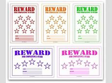 Free printable reward charts