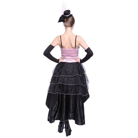 Girls Moulin Rouge Showgirl Fancy Dress Can Can Costume Dance Burlesque Corset | eBay