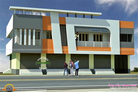 small house designs and floor plans 5 shop with residence 2620 sqft kerala home design and