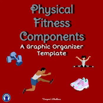 physical fitness components infographic graphic organizer