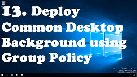 deploy desktop background wallpaper  group policy