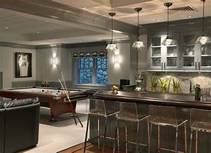 wet bar design contemporary basement jan gleysteen With what kind of paint to use on kitchen cabinets for wall art for man cave