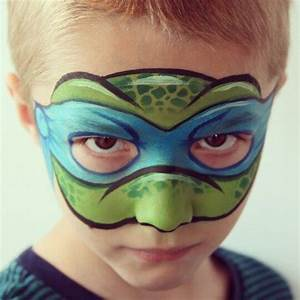 Teenage Mutant Ninja Turtle face paint design by www ...