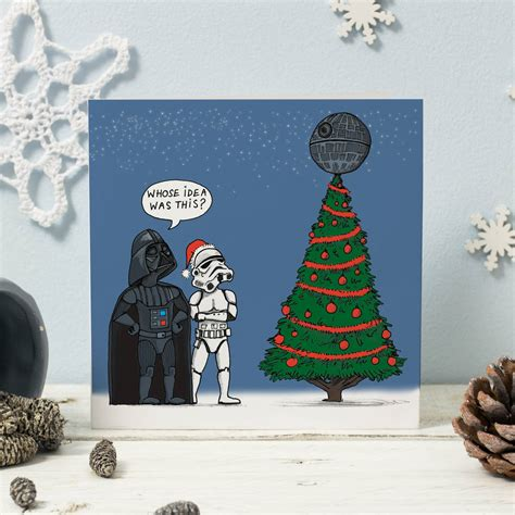 Make yourself or your loved ones happy with holiday cards. Star Wars Christmas Card By Cardinky | notonthehighstreet.com
