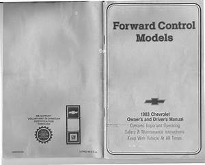 1983 Fleetwood Pace Arrow Owners Manuals  1983 Gm Chevrolet Owners  U0026 Drivers Forward Control