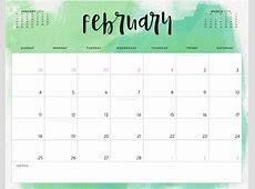 Color Pattern 2018 Printable Calendar Calendar 2018