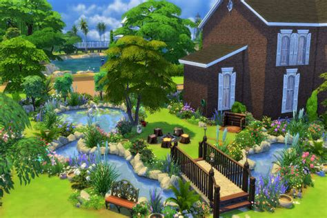 Secret Garden By Mystril At Blacky's Sims Zoo » Sims 4 Updates