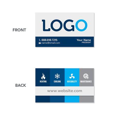 hvac business card design print services footbridge