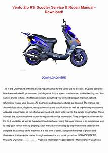 Vento Zip R3i Scooter Service Repair Manual D By