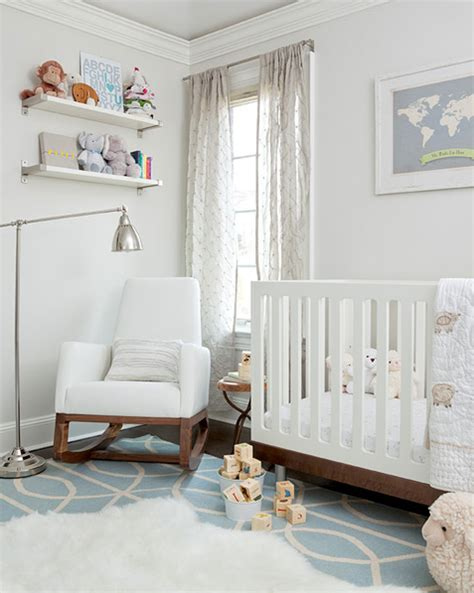 white paint color for nursery nursery contemporary nursery the elegant abode