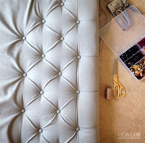 How To Do Tufting Upholstery by How To Make A Tufted Headboard