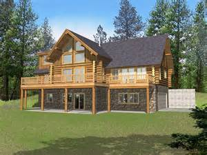 cabin style home marvin peak log home plan 088d 0050 house plans and more