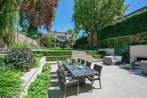Back Garden Ideas Patio Traditional With Tiered Garden
