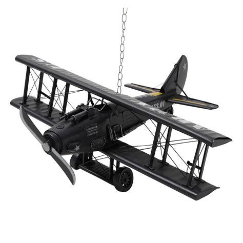 bureau 90 cm avion déco en métal 18 x 42 cm army maisons du monde