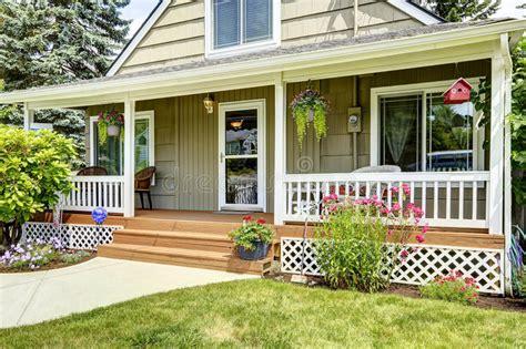 house  cozy entrance porch stock image image