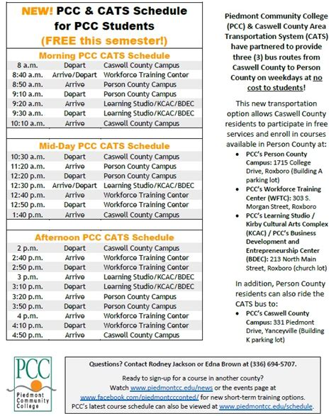 pcc academic calendar printable
