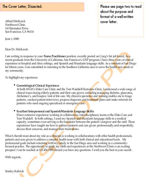 graduate nursing cover letter  examples  word