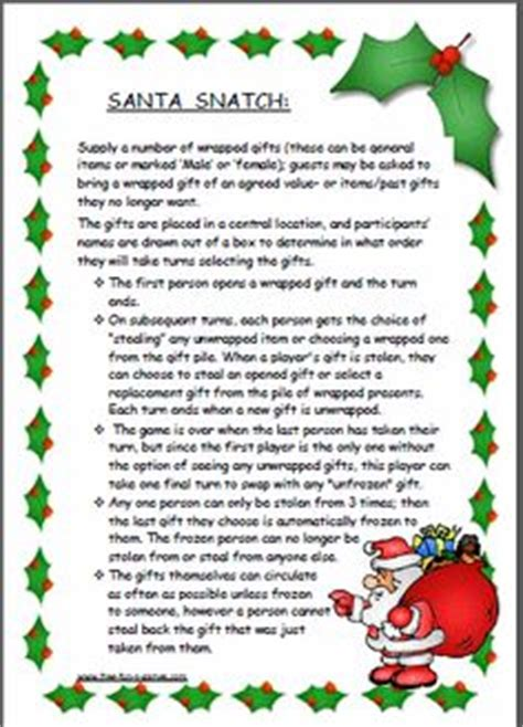 dirty santa party rules images frompo 1