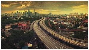 Cityscapes urban highways skyscrapers Malaysia Asia ...