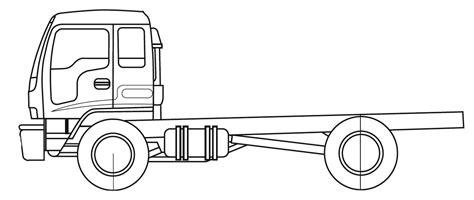 isuzu ftr heavy truck blueprints  outlines