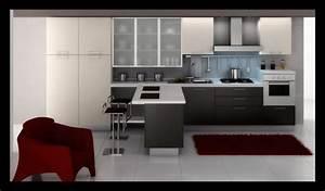 cuisine noir et rouge cuisine rouge et bois er decoration With meuble salon noir et blanc 12 cuisine leicht et lineaquattro